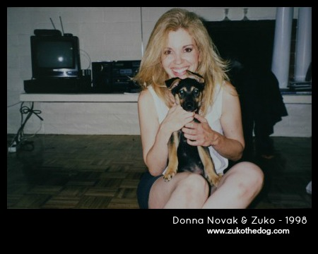 Donna Novak & Zuko the Dog - 1998
